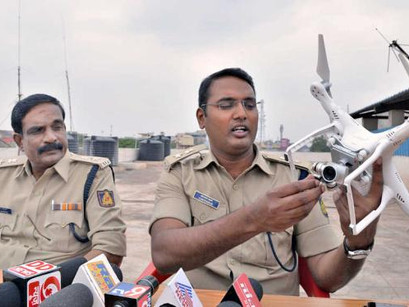Pilot Project: Sircilla police link drones with patrol cars