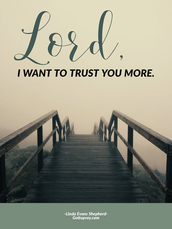 Lord, I want to trust you more.