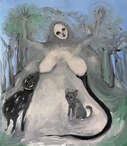 Madre che nutre gli esseri viventi