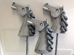 Completed Carousel Horses