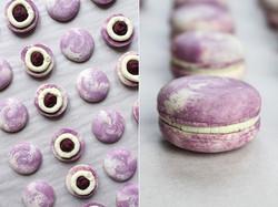 Vegan macarons blueberry - vanilla - white chocolate. 💜 💜 💜