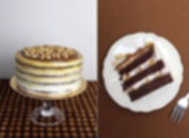 Vegan moist chocolate cake, caramel crea