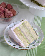 Vegan lime-litchi cake.