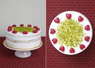 Vegan cake Pistachio - raspberry.