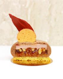 "Vegan individual mousse cake ""Peach Agate"""