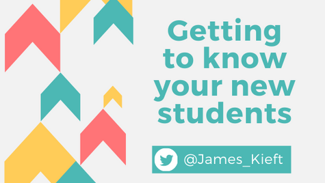 Ideas for getting to know your new students