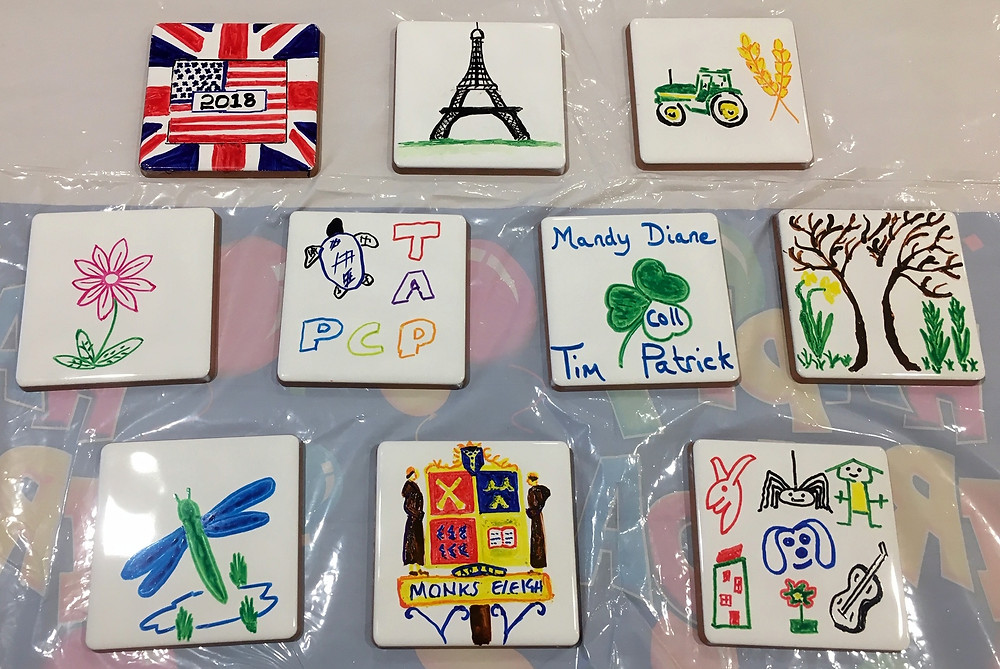 Tile painting in aid of Monks Eleigh village Hall