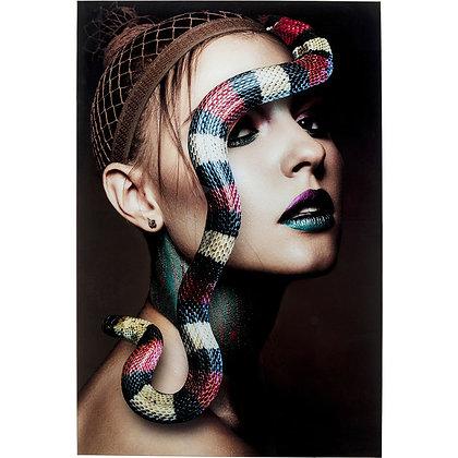 Quadro Snake Girl By Kare
