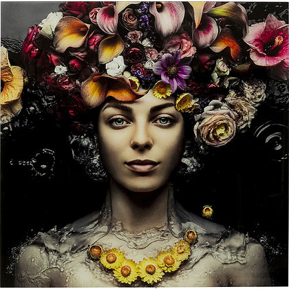Quadro  Flower Art Lady By Kare