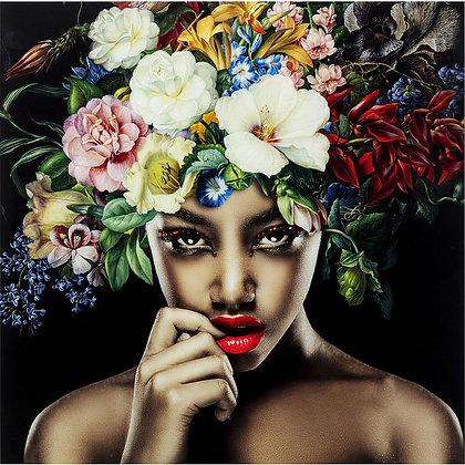 Quadro Pretty Flower Woman By Kare