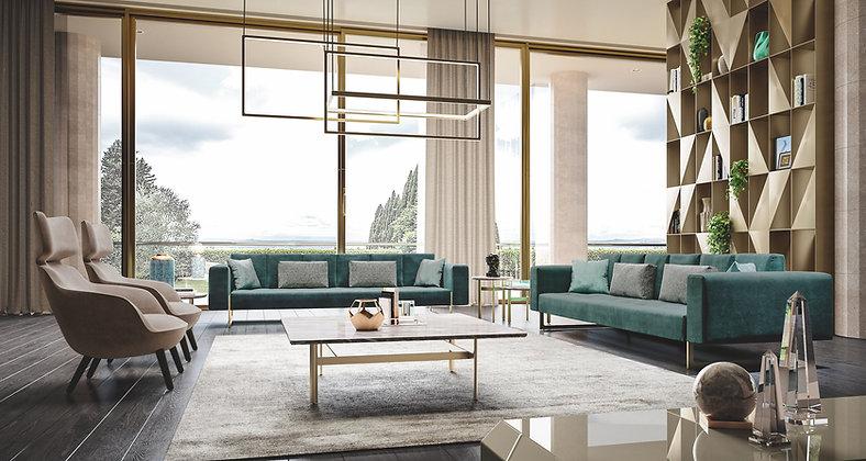 Divano Rc212/215 By Richmond Design Barnini Oseo