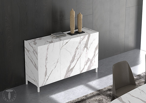 Madia Eddy White Marble By Tomasucci