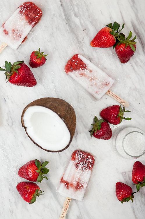 Strawberries N Cream - Box (6 Pops)