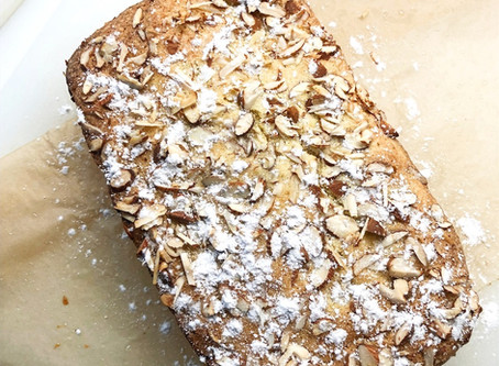 Lemony Almond Loaf Cake