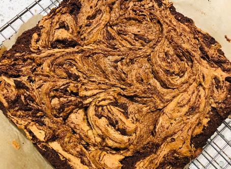 GF Chocolate Peanut Butter Brownies (Sugar-Free)