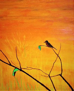Purple Bird on Branch .jpg