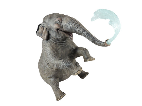 """Bertha"" the Elephant Painted Resin Miniature"