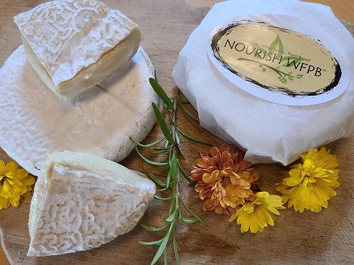 Nourish Artisan Cashew Nut Brie, Food Service, 6oz wheel, 4/cs