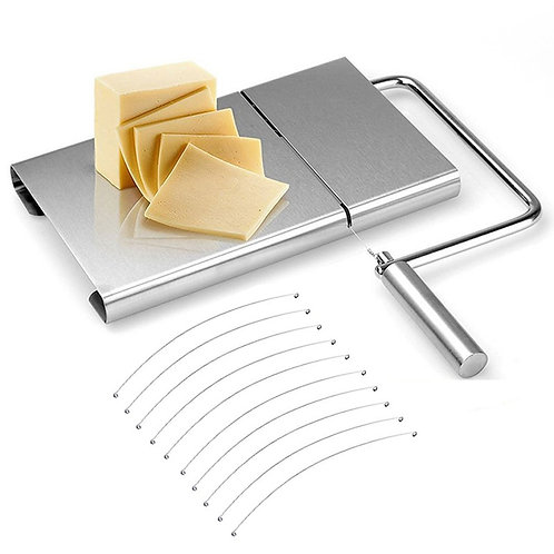 Combination Cheese Slicer & Board +10 Stainless Steel Replacement Cutting Wire
