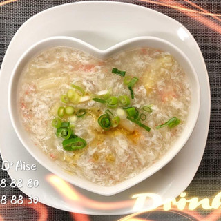 102 - Potage d'asperges au crabe