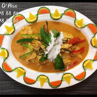 313 - Panang Kay (poulet au curry rouge et basilic)