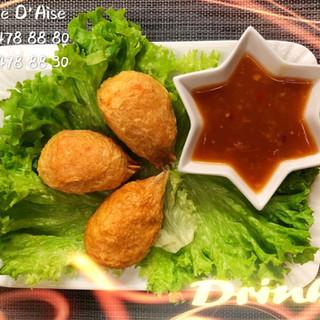 220 - Pinces de crabe farcie sauce aigre-douce
