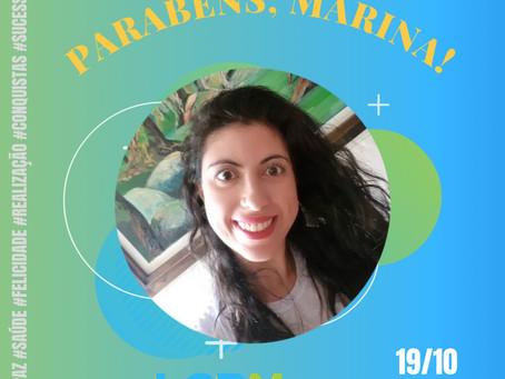 Parabéns, Marina!