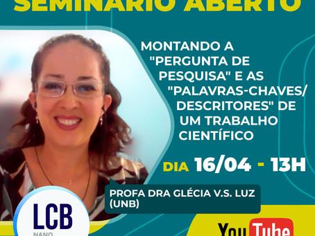 Seminário Aberto - Profa Dra Glécia V.S. Luz (UnB)