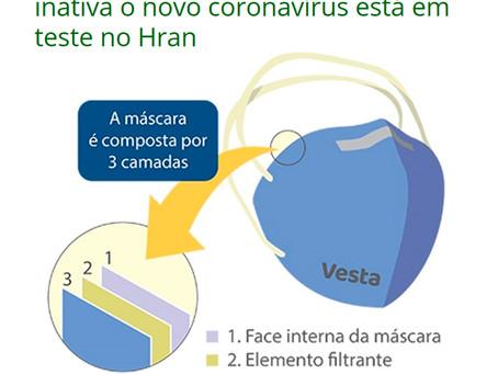 Máscara que inativa o novo coronavírus