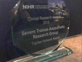 STAR win prestigious RCoA & NIHR Award