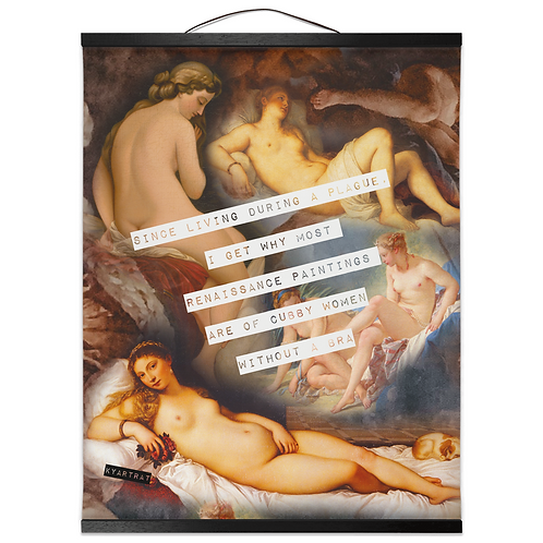 braless & lawless - canvas print  (PRE-ORDER)