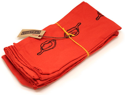 falling skillets - napkin set
