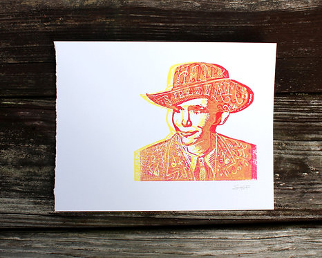 hank williams sr. - print