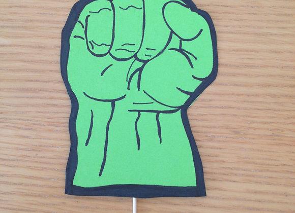 Superhero Cake Topper,Hulk Hand