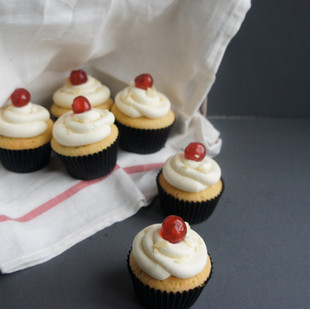 Bakewell Cupcakes