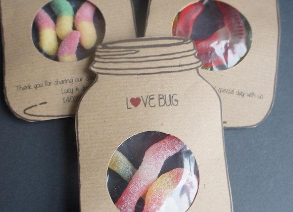 Love Bug Wedding Favour Sample