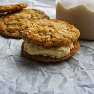 Anzac Cookie Ice-cream Sandwich