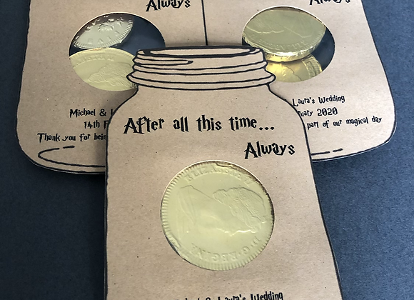 Harry Potter Themed Wedding Favour