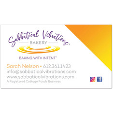 Sabbatical Vibrations Bakery Business Card