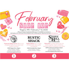 February Shop Hop Flyer