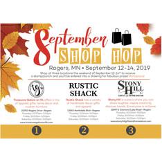 September Shop Hop Flyer