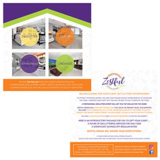 Zestful Design Two Sided Brochure