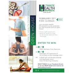 Ultimate Health Chiropractic Open House Flyer