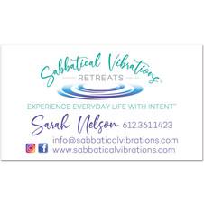 Sabbatical Vibrations Retreats Business Card