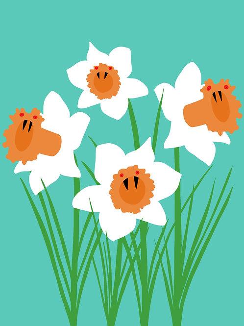 Spooky Daffodils (8x10)
