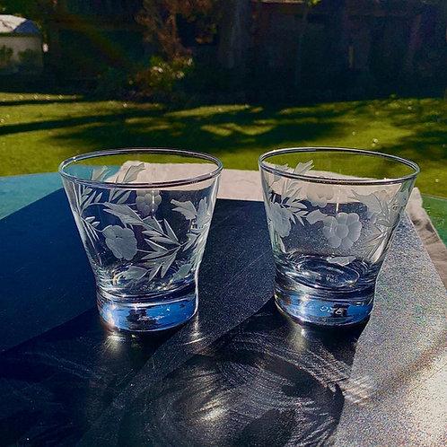 6 Vasos tallados