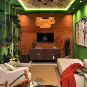 Sala de estar - Tradizionale Rosso