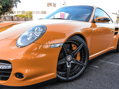 Porsche 997 Turbo Custom Forged Wheels.