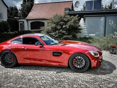 Mercedes AMG GT with LOMA DBS TrackSpec® Custom Wheels.