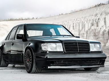 Mercedes 500E AMG Custom Forged Wheels.